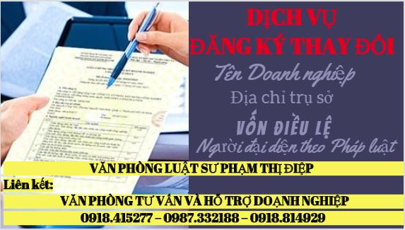Dịch vụ Đăng ký thay đổi nội dung đăng ký kinh doanh Đà Lạt - Lâm Đồng