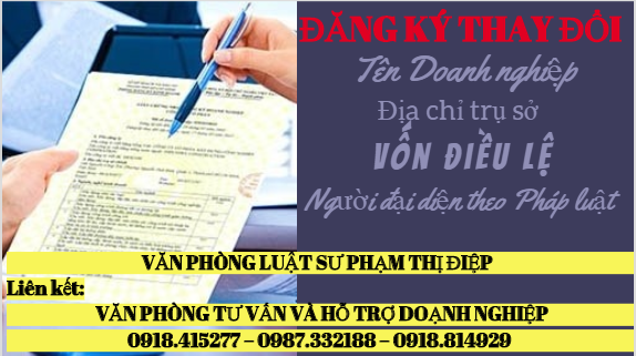 Đăng ký thay đổi nội dung đăng ký kinh doanh Đà Lạt - Lâm Đồng